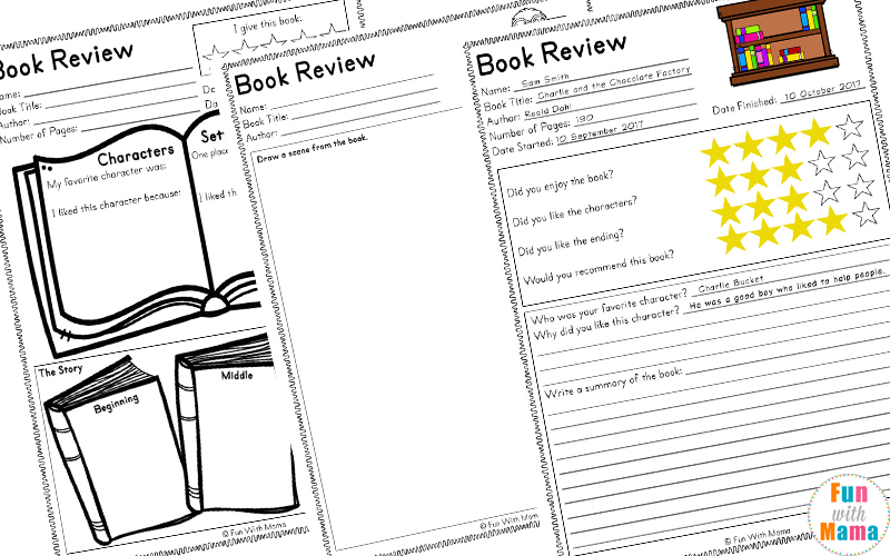 Reading Log PDF and Book Report Templates - Fun with Mama