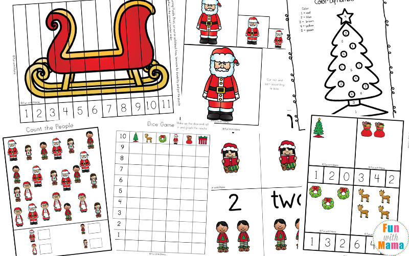 Free Printable Christmas Worksheets Fun With Mama