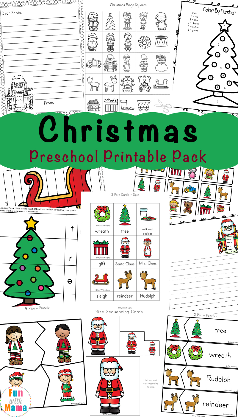 Free Printable Christmas Worksheets - Fun with Mama