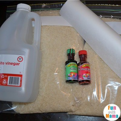 How to make colored rice - what you need