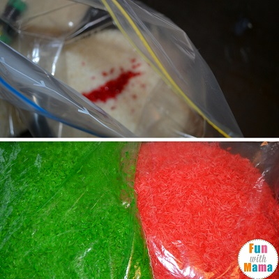how to make colored rice 2