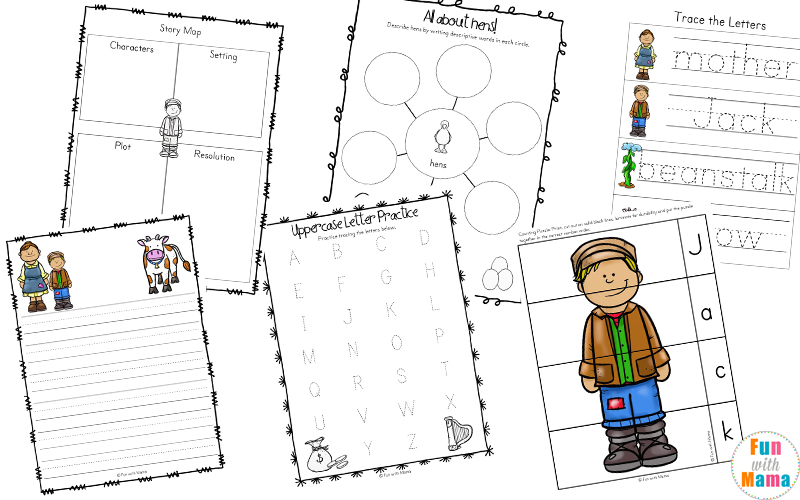jack and the beanstalk activities for kindergarten