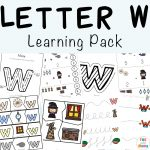 Letter W Worksheets For Preschool + Kindergarten
