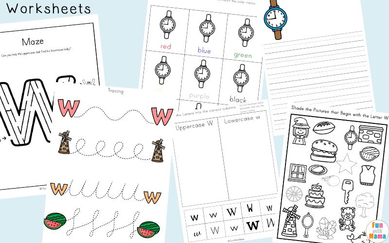 Letter W Worksheets For Preschool