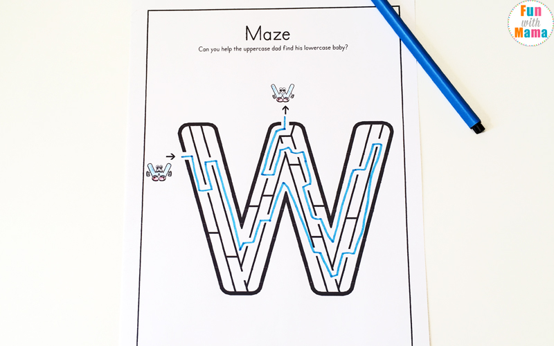 Letter W Worksheets For Preschool + Kindergarten   Fun with Mama