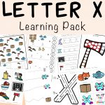 Letter X Worksheets For Preschool + Kindergarten
