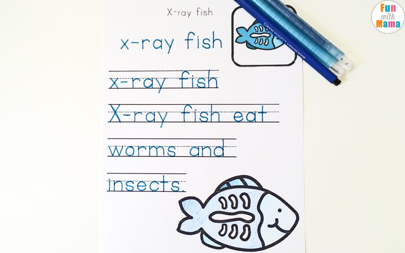 letter x literacy activities