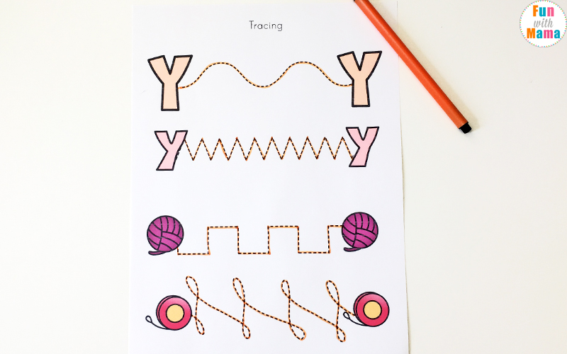 Letter Y Worksheets For Preschool + Kindergarten   Fun with Mama