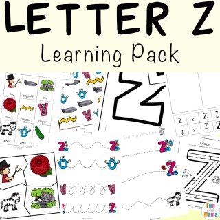 Letter Z Worksheets For Preschool + Kindergarten