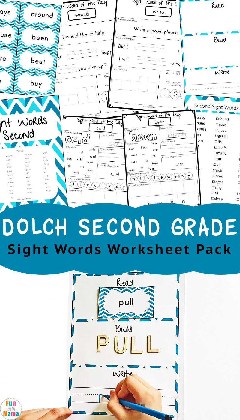 Dolch Second Grade Sight Words - Fun with Mama