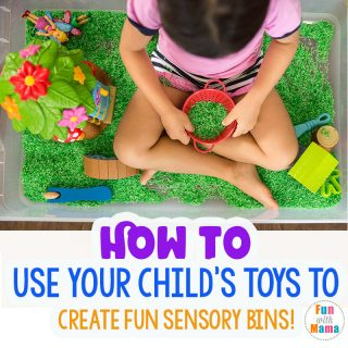 How to Make Sensory Bins with Child's Toys