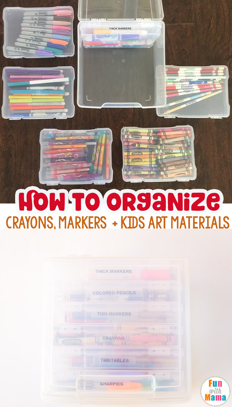 Are You Looking For How To Organize Kids Art Supplies? Maybe Specifically  On How To Organize Crayons And Markers? Then This Simple Solution Is  Currently My ...