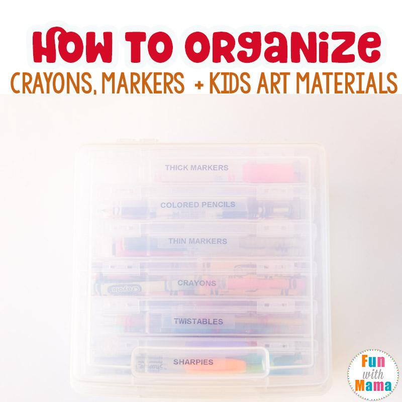 Art Supply Storage For Toddler