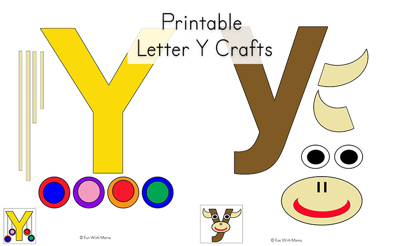 letter y crafts letter y worksheets for preschool kindergarten 23304 | letter y crafts