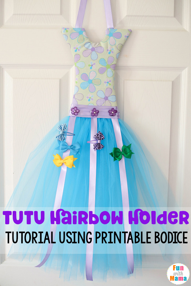 how to make a tutu bow holder with a bodice template fun with mama