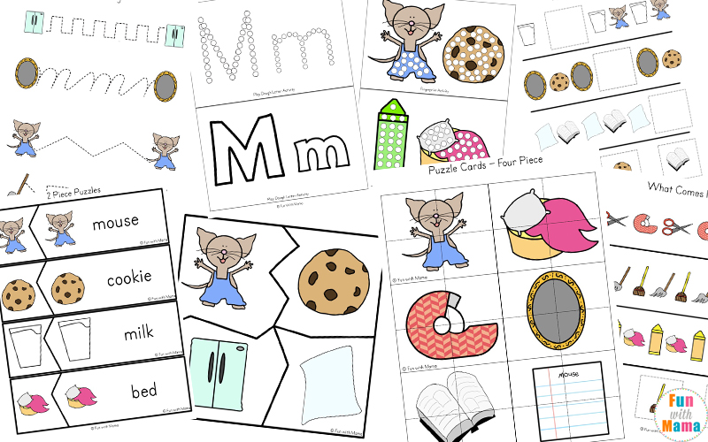 If you Give a Mouse a Cookie Printable Activities - Fun with Mama | 500x800