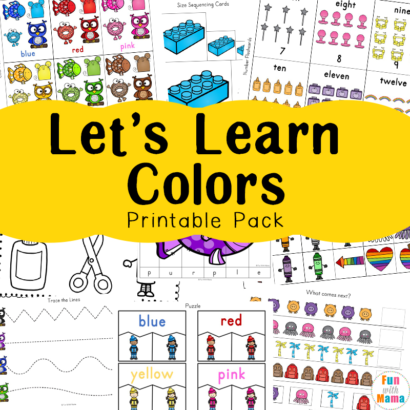 Learning Colors With Fun Color Themed Printable Worksheets Fun With Mama