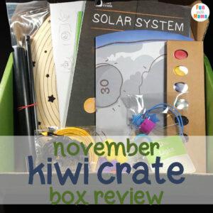 November Box Review Kiwi Crate Solar System