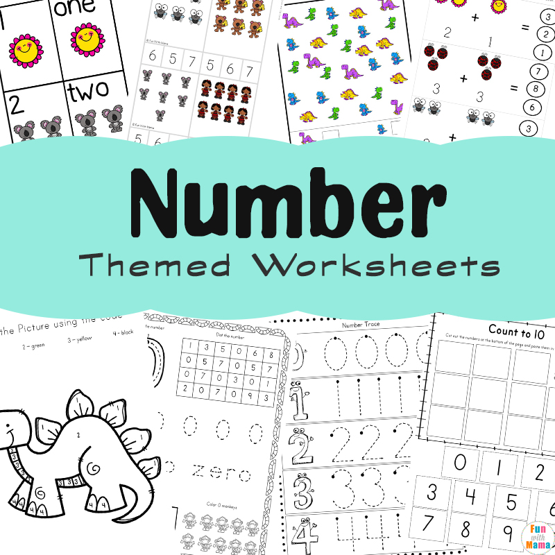 Help Kids Learn Numbers With These Fun Printables - Fun with Mama