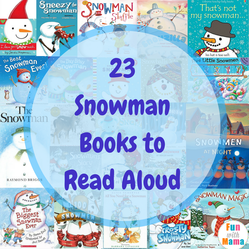 Read aloud snowman books for preschoolers kindergarteners and toddlers
