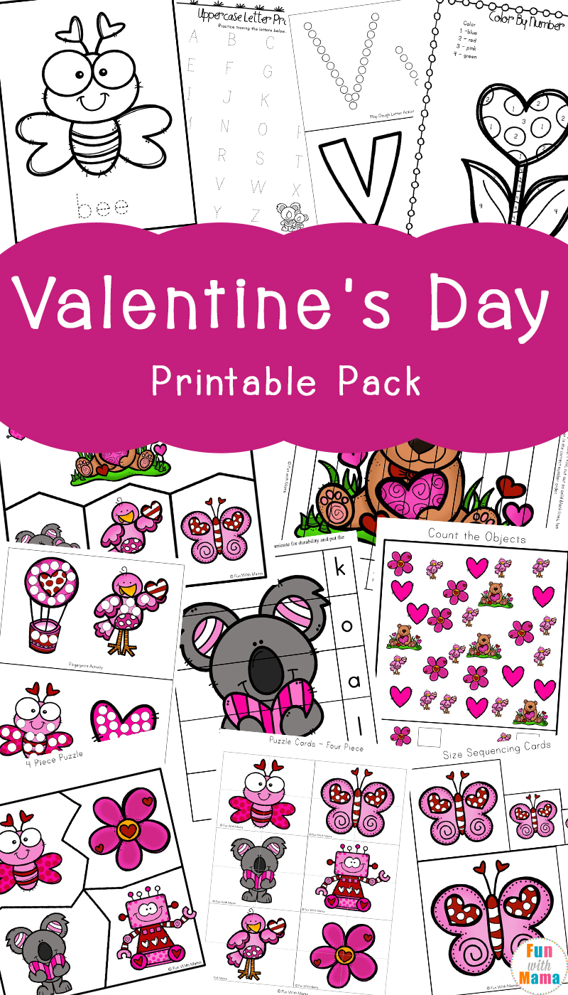 Valentine\'s Day Printables Pack - Fun with Mama