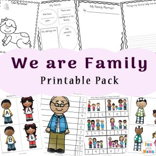 Family Theme Preschool and Family Worksheets For Kindergarten