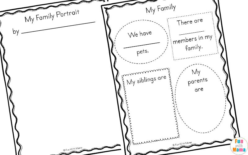 Family Theme Preschool and Family Worksheets For Kindergarten – Family Tree Worksheet