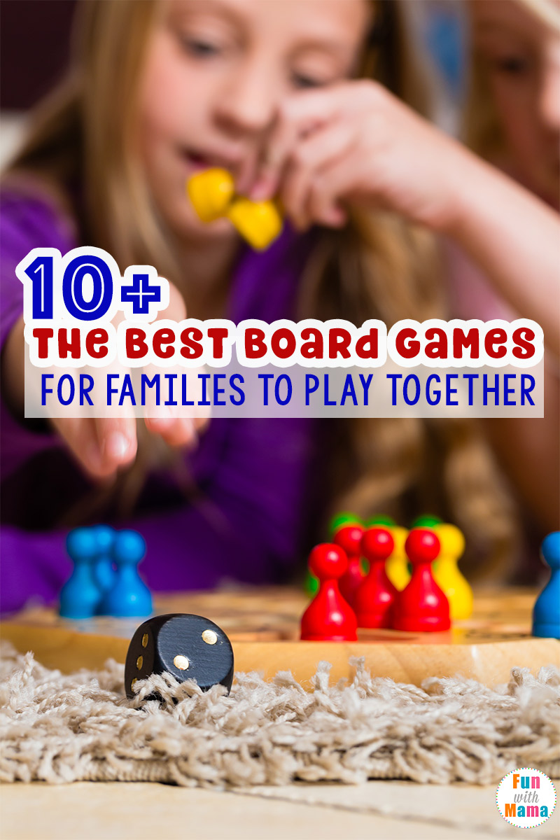 Fun board games for kids and families to play together. Great for families with children 2 years old and up!