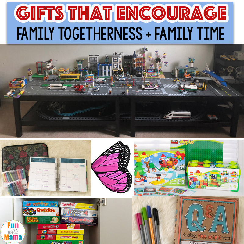 Family gift ideas that encourage family time fun with mama family gift ideas for the whole family negle Image collections