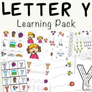 Letter Y Worksheets For Preschool + Kindergarten
