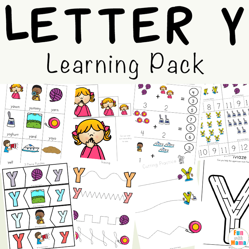 Letter Y Worksheets For Preschool Kindergarten Fun with Mama – Letter Y Worksheets