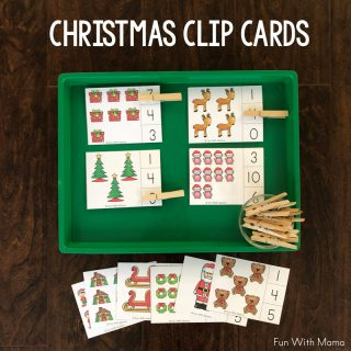 Clothespin Christmas Clip Cards