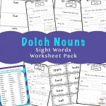 Sight Words Flash Cards Dolch Nouns