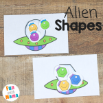 Alien Shapes For Kids Activities