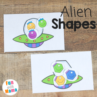 Alien Shapes For Kids Activities