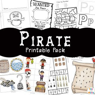 Pirate Coloring Pages + Pirate Activities