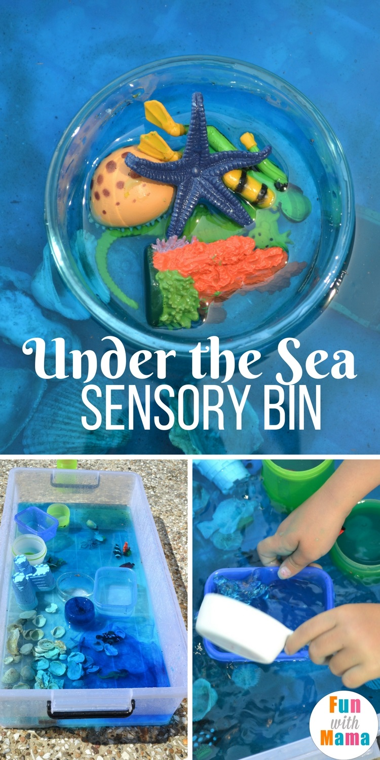 Under the sea sensory bin pinterest