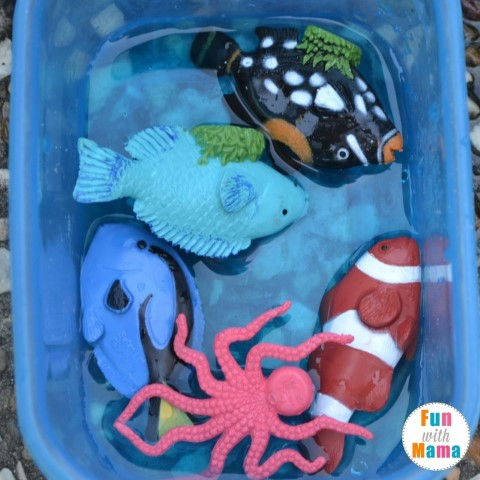 Under the sea sensory bin playing with fish 2 (Small)
