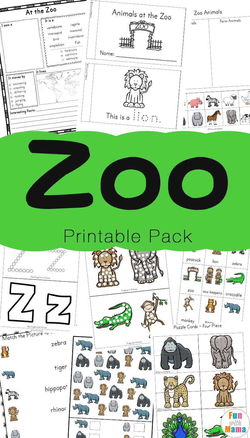 Zoo Animal Activities For Preschoolers + Kindergarteners - Fun with Mama