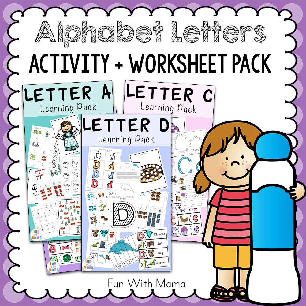 Free Alphabet Abc Printable Packs  Fun With Mama
