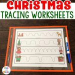 Christmas Preschool Tracing Worksheets