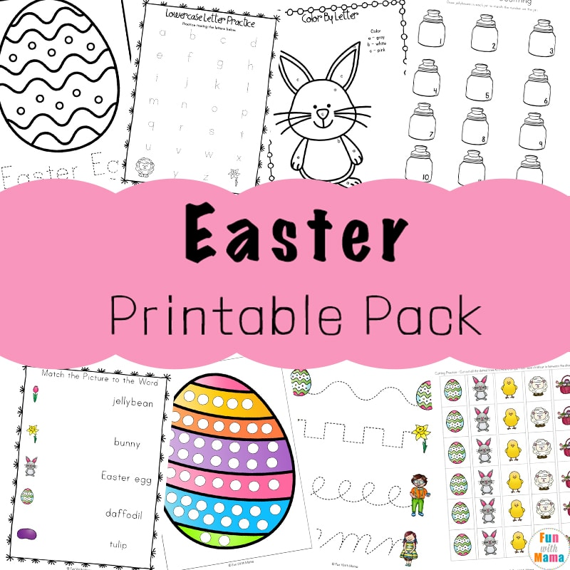 Easter Activities For Toddlers And Preschool Printables - Fun With Mama