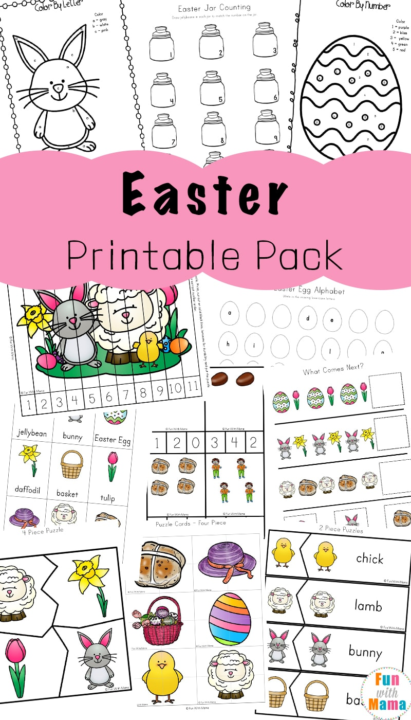 Easter Activities For Toddlers and Preschool Printables Fun with Mama
