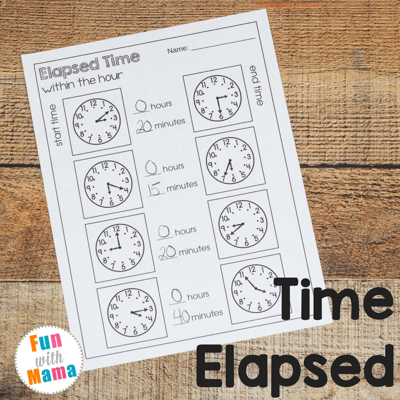 Elapsed Time Worksheets Fun With Mama. Elapsed Time Worksheets. Worksheet. Fun Worksheet On Time At Clickcart.co