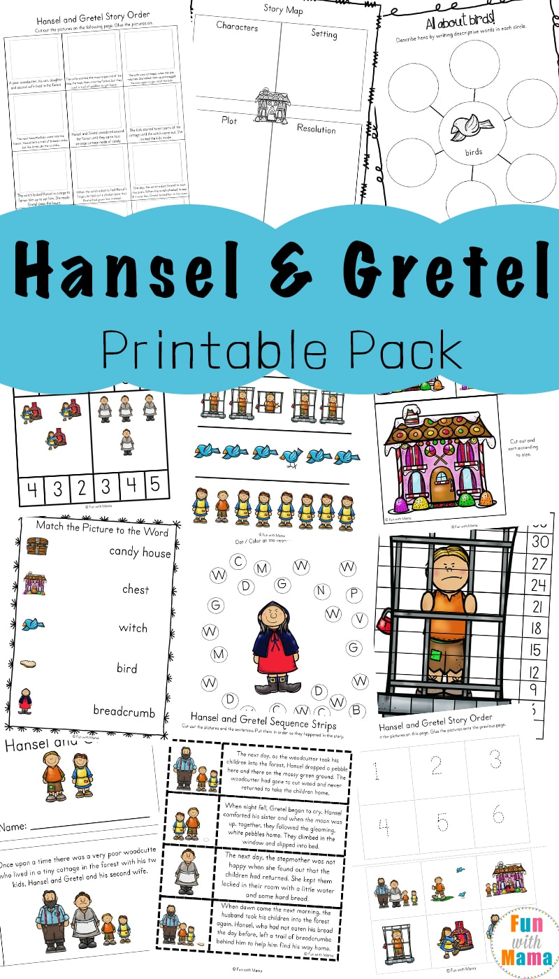 Hansel and Gretel Short Story Activities - Fun with Mama