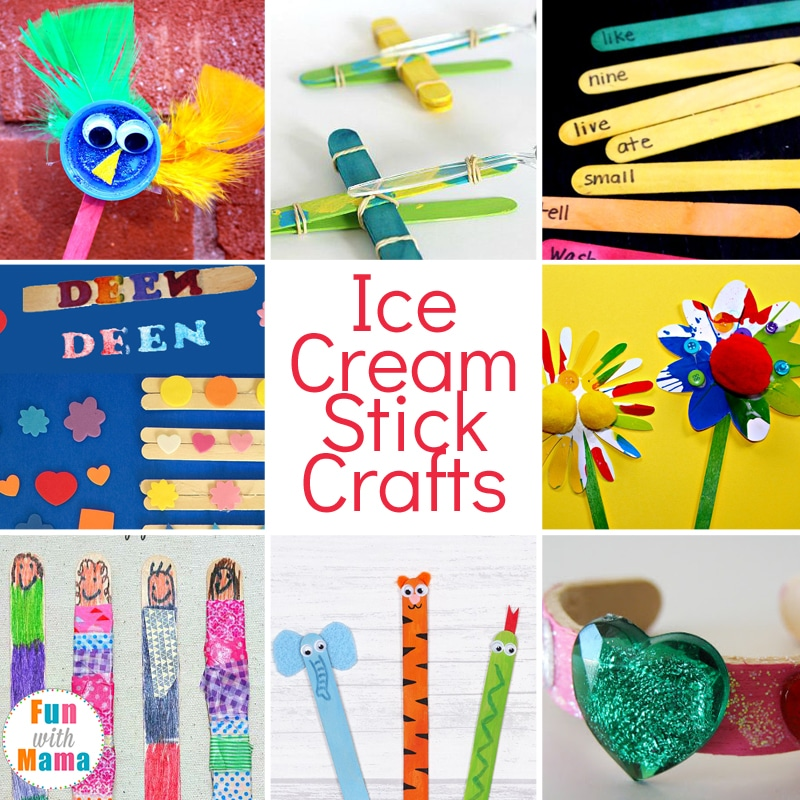 Ice cream stick crafts