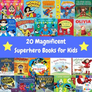 20 Magnificent Superhero Books for Kids