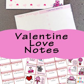 Preschool Valentines Notes