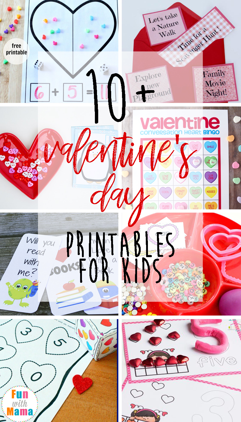 Valentine's Day Printables for Kids. Kids will have fun learning and enjoying the games for Valentine's Day. These are perfect for a class party or at home!