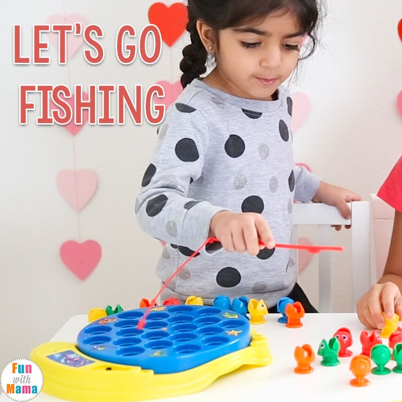 Let 39 s go fishing game kids toy review fun with mama for Lets go fishing game